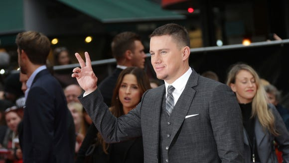 Channing Tatum poses for the cameras.