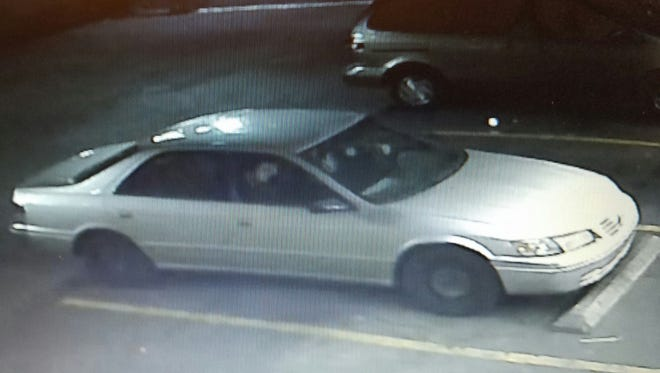 Police believe this vehicle was the one seen fleeing the scene of the shooting.