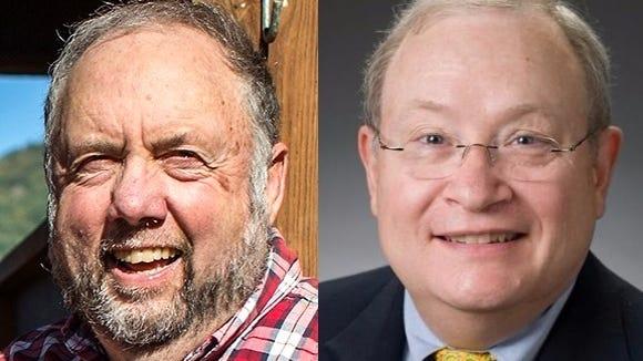 John Ager, left, and Frank Moretz
