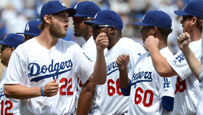 Clayton Kershaw and his Los Angeles Dodgers teammates show unity and support for each other on the field, but in their clubhouse fantasy football league, it's every man for himself.