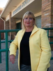 Tamyra Jarvis, director of corrections of the Escambia County Jail, poses for a photo outside the department's building on April 13, 2017, in Pensacola.