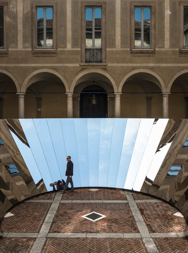 """Open Sky"" by Phillip K. Smith III at Milan Design Week 2018"