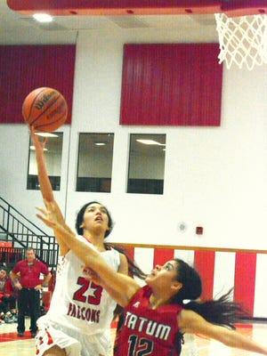 Loving junior guard Liana Rodriguez puts up a shot in the third quarter Friday.