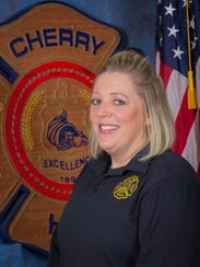 Tammy DeLucca of the Cherry Hill Fire Department reminds