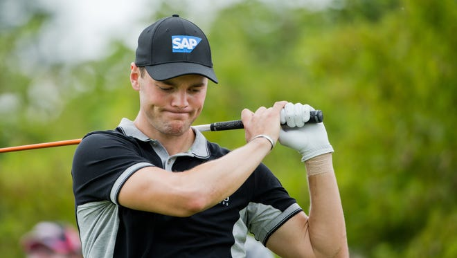Germany's  Martin Kaymer  looks on during  the  BMW International Open golf tournament  in Pulheim near Cologne, Germany.