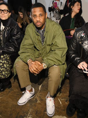 Rapper Fabolous attends a fashion show during New York Fashion Week in New York.