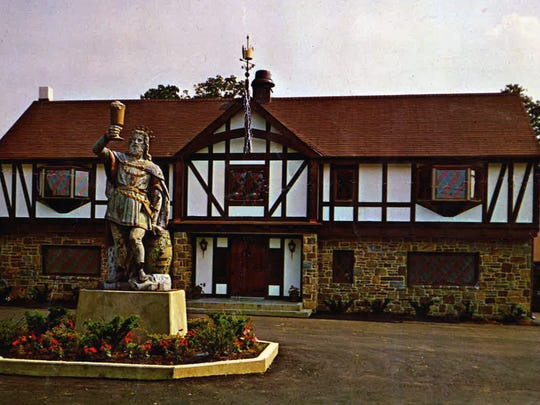 The King Gambrinus statue in front of the King's Inn in Brandywine Hundred on Naamans Road. The restaurant is now home to Harry's Savoy Grill.