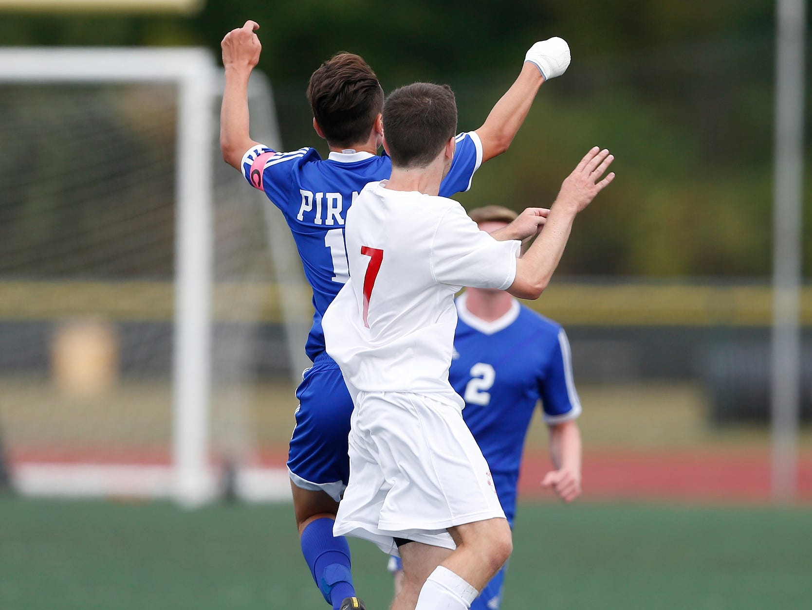 Tappan Zee defeats Pearl River 3-2 in overtime in boys soccer action at Tappan Zee High School in Orangeburg on Saturday, September 24, 2016.