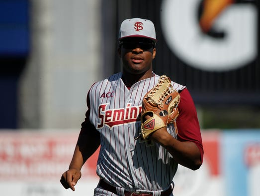 Florida State's Jameis Winston is the first Heisman winner to play college baseball after winning the award since Bo Jackson in 1986. The Seminoles quarterback got a chance to play against the New York Yankees today in an exhibition game.