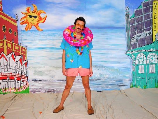 Asbury Park Press art columnist Billy Anania poses