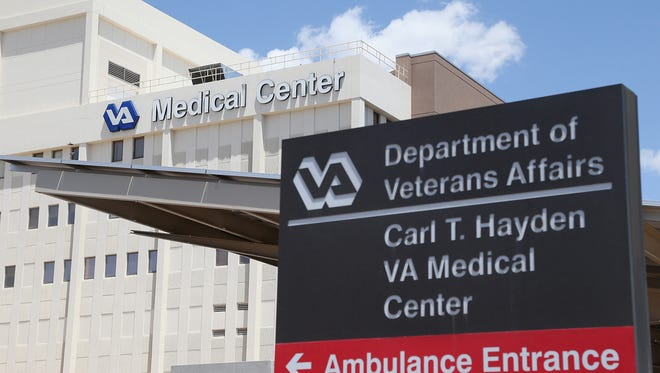 This Veterans Affairs hospital in Phoenix is at the center of a management scandal at the Department of Veterans Affairs involving the doctoring of records to hide chronic delays in providing medical and mental health care to veterans.