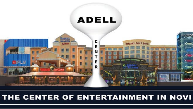 Novi City Council tentatively approved the Adell Center, which will include a restaurant, two hotels, a fitness club, indoor skydiving and a business that sells cars on the Internet.