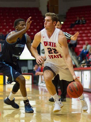 Dixie State basketball holds off Sonoma State University for a 64-62 victory Friday, Nov. 25, 2016.