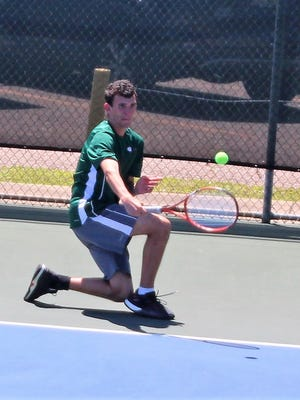 Grace Christian senior Logan Cheek qualified for the LHSAA state tennis tournament after finishing as a runner-up in the Region 2-IV tournament boys singles bracket.