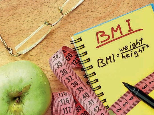 Based on a mathematical formula taking into account a person's height and weight, the Body Mass Index is used to make a determination whether or not a person is overweight or obese