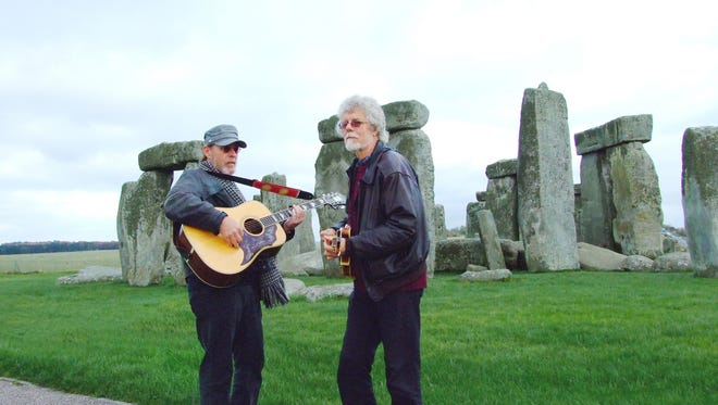 Paul Barrere (left) and Fred Tackett will appear at the Newton Theatre on Friday, June 15. The duo, longtime members of Little Feat, will play acoustic versions of songs by that eclectic roots-rock band, along with other material.