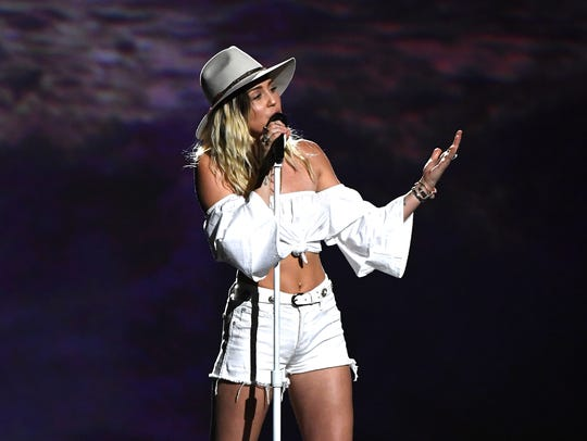 Miley Cyrus at the 2017 Billboard Music Awards at T-Mobile