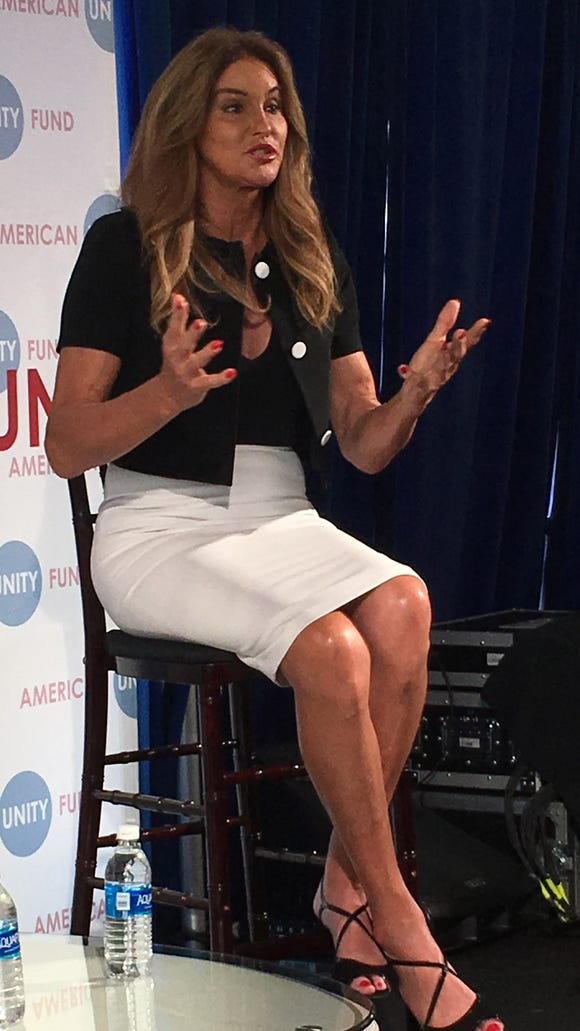 Caitlyn Jenner speaks at the Big Tent Brunch in Cleveland