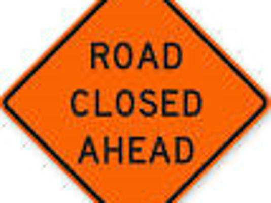 road-closed sign