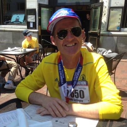 On his first trip to Burlington, Tony O'Flaherty ran