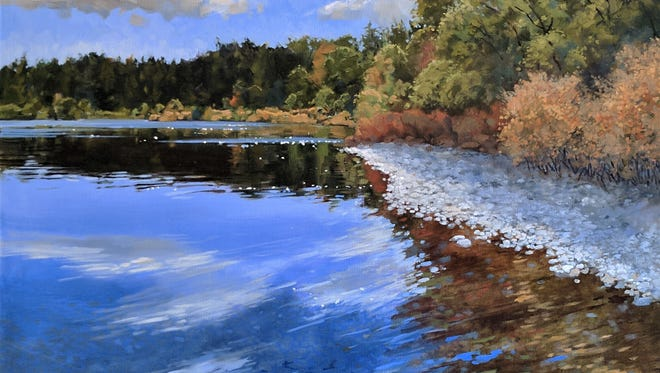 """""""Mirror,"""" oil on canvas by Dale Olsen, part of the group show for Celebrate Water Door County at Edgewood Orchard Galleries."""