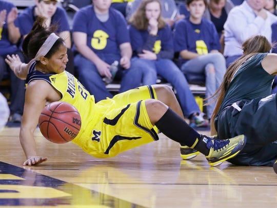 Michigan guard Danielle Williams.