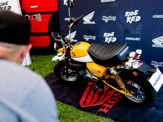 The brand-new Honda Monkey bike is unveiled at the