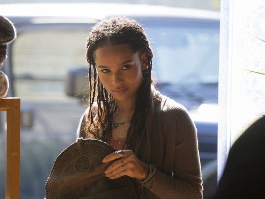 Zoe Kravitz plays Bonnie Carlson, a yoga instructor