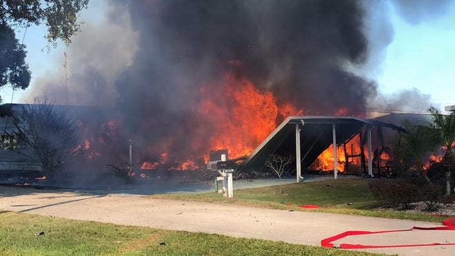 Two people were killed Tuesday, Oct. 30, 2018, when an experimental helicopter crashed into a Sebring mobile home.