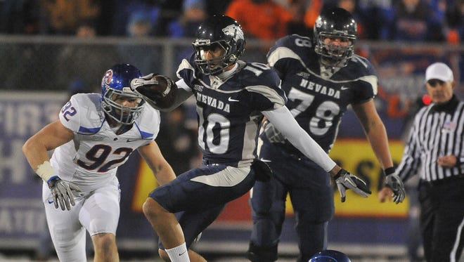 Former Nevada quarterback Colin Kaepernick accounted for more than 14,000 yards of offense during his four seasons with the Wolf Pack.