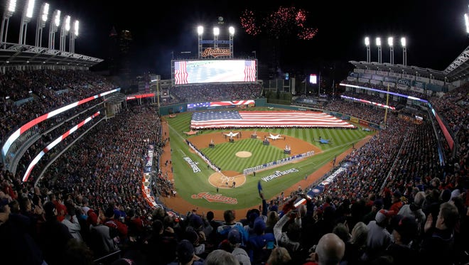 Progressive Field could see rain tonight for Game 2 of the World Series.