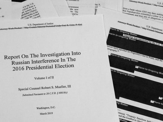 Special counsel Robert Mueller's redacted report on