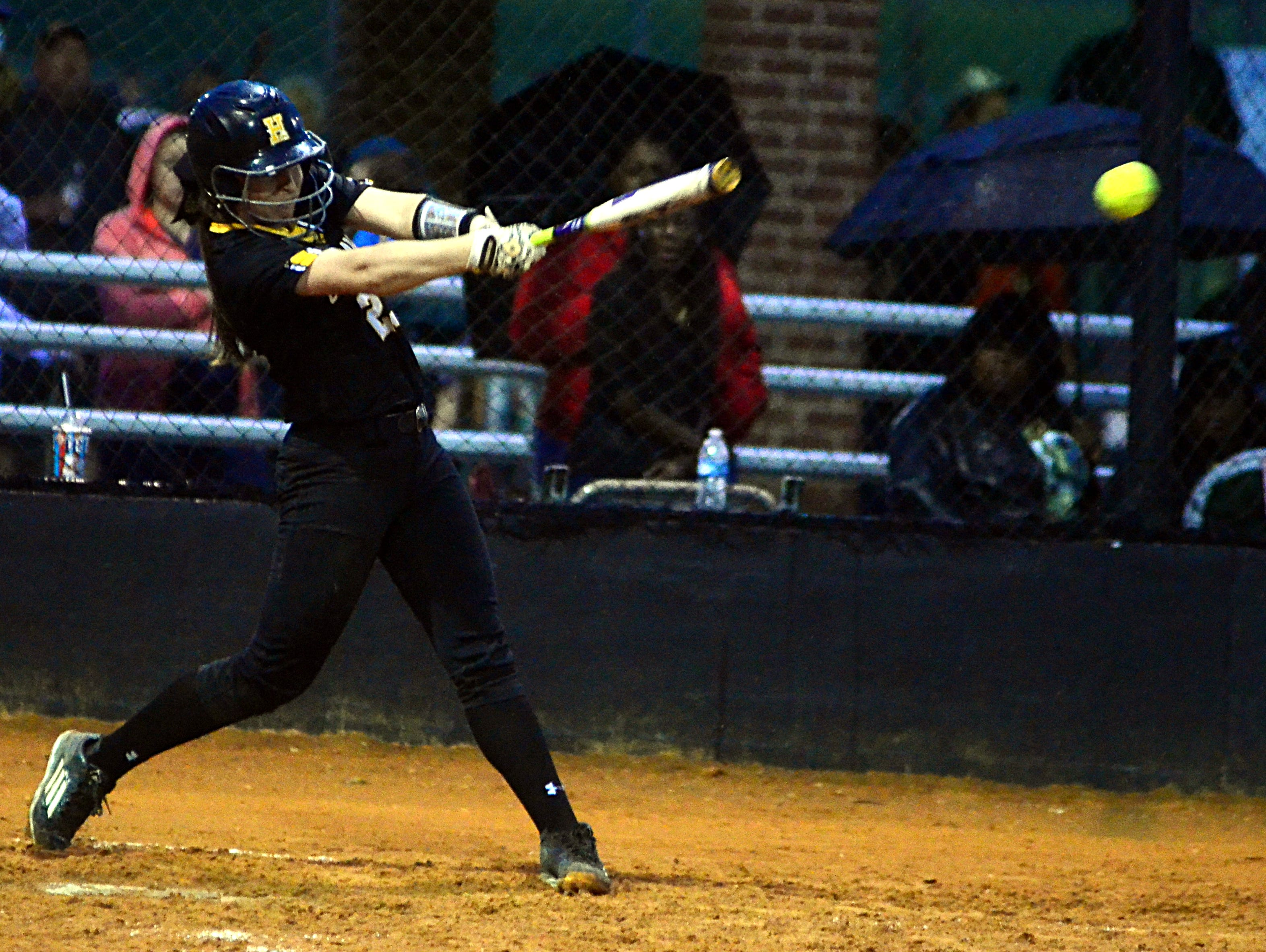 Hendersonville High junior Matti Byrd doubled and drove in a run during the third inning of Monday evening's 5-2 victory over Henry County.