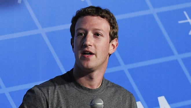Facebook CEO Mark Zuckerberg speaks on the opening day of the Mobile World Congress in Barcelona.