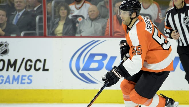 Nick Schultz has helped anchor the Flyers' blueline.