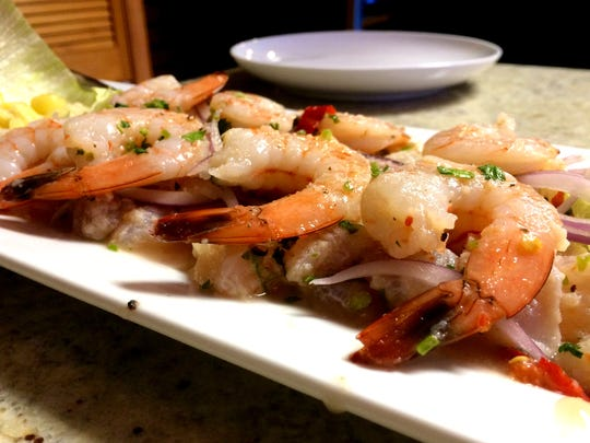 Fish and shrimp ceviche from Aji Limon in south Cape Coral.