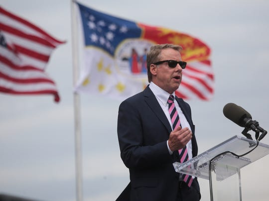 Ford Motor Company Executive Chairman Bill Ford Jr. speaks during the celebration of Ford Motor Company buying the Michigan Central Station in Corktown, a Detroit neighborhood, on Tuesday, June 19, 2018.