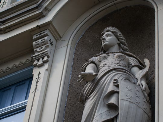 The figure of Germania is a 25-foot key feature to the Renaissance Revival building in OTR. She represents the German spirit and culture.