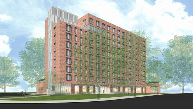 Rendering of Prelude, the first phase of the rebuilding of Brookfield Commons in White Plains.