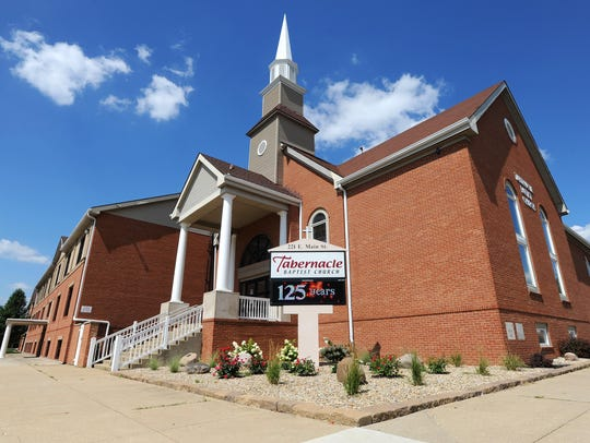 The Tabernacle Baptist Church, located at 221 East