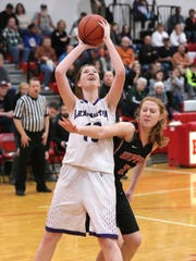 Lexington's Natalie Beer led Lady Lex to its first win of the season on Thursday night.