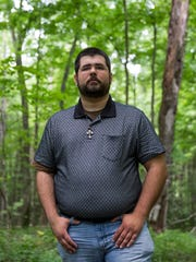 Traditionalist Worker Party's Matt Heimbach poses for