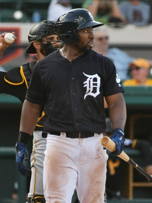 The Tigers are thrilled with Christin Stewart's bat, though his defense is a work in progress.