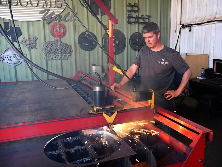 Keith Wineinger, owner of The Burn Shop, runs the