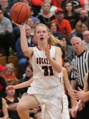 Buckeye Central's Kyleigh Brown makes a shot during