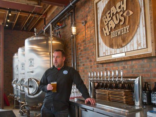 John Merklin, owner of the Beach Haus Brewery in Belmar,