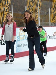 Tennessean reporter Jessica Bliss ice skates at Bridgestone Winter Park, which opened Saturday The outdoor rink was created as a focal point for NHL All-Star festivities.