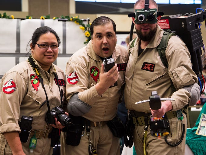 Members of the Fort Collins Ghost Busters pose for