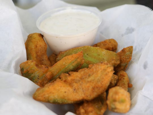 Round 1: Fried avocados at the Dutchess County Fair in Rhinebeck on Tuesday.