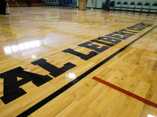 Northwestern Middle School's gym floor was dedicated to Al Leibert on Friday afternoon celebrating over 65 years as an educator and a coach in the Battle Creek School area.